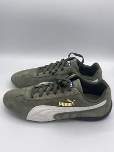 Puma Speedcat OG Sparco Forest White Men New Shoes Racing Driving Rare 339844-04