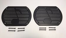 Pair (2) Black Note Speaker Cover Grill Rear Deck Custom Lowrider Hot Rod