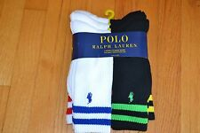 Polo Ralph Lauren Colored Double Bars Classic Crew Socks Men's Sock Size: 10-13
