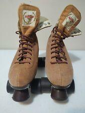 Vintage Championship Rinkmaster Genuine Leather Urethane Roller Skates Sz 9