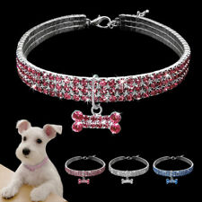 Bling Rhinestone Dog Collar Dog Necklace Pendant for Pet Puppy Chihuahua S M L