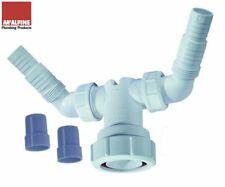 McAlpine Twin Spigot Connector Add Dishwasher & Washing Machine Standpipe V33WM
