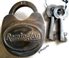 Remington Solid Brass body lock rifle firearms padlock