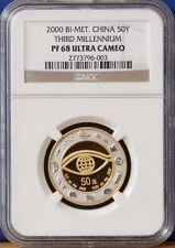 2000 China Millenium Bi-Metallic Y2K Dragon Coin NGC Graded