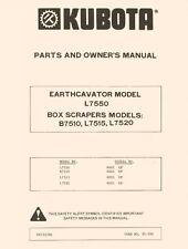 KUBOTA B7510 L7515 L7520 Box Scraper Operators Manual