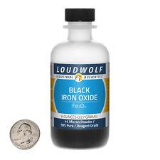 Iron Oxide Black 8 Ounce Bottle 99 Pure Reagent Grade 44 Micron Powder