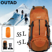 OUTAD 55+5L Outdoor Water Resistant Sport Backpack Hiking Camping Travel Bag USA