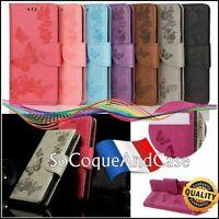 Etui Coque Housse PAPILLON BUTTERFLIES FLOWER Wallet Case Cover Xiaomi Poco M3