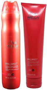 Wella Brilliance Shampoo(10oz) & Conditioner(8.4oz) for Coarse Colored Hair Duo.