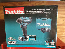 "Makita FD06R1  12V max CXT® Lithium‑Ion Cordless 1/4"" Hex Driver‑Drill Kit (2.0A"