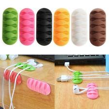Mini Desk Organiser Cable Drop Clip Wire Cord Lead Line USB Charger Holder Fixer