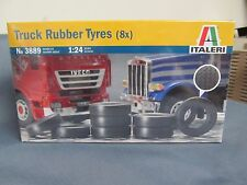 Italeri #3889 Truck Tires. 8 per set, Mack, Peterbilt, Kenworth, Ford   1/24th