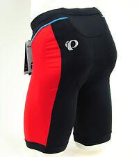 Pearl Izumi Select Pursuit Men's Tri Triathlon Shorts, Black/True Red, Small