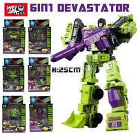 Devastator Transformers 6 In 1 WJ Hercules Engineering Car Action Figure In Box