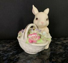 Lenox Easter Bunny Rabbit with Basket Of Flowers American by Design