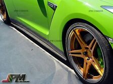 JPM Carbon Fiber Side Skirts Extension Add-on Lip Fit Nissan GT-R GTR R35 09-12