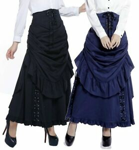 CSTD 71530  Rock 2 tlg Gothic Skirt Raffung Lolita Viktorian Burlesque Steampunk
