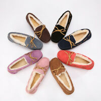 UGG Slippers Sheepskin Moccasins Women's Shoes Ladies Slippers Water Resistant
