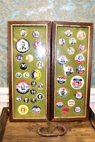 Vintage collection of political pinbacks, lot of 40 in 2 frames