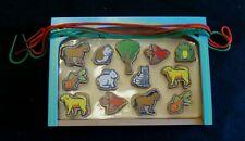 Melissa & Doug Wooden Pets Bead Set lacing Toddler PreK homeschool ages 3 4 5
