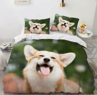 3D Happy Pet Dog Brown KEP6383 Bed Pillowcases Quilt Duvet Cover Kay