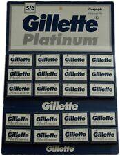 100 Gillette Platinum Double Edge Razor Blades