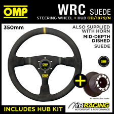 MAZDA MX5 MX-5 MIATA 90- OMP WRC 350mm MID-DEPTH STEERING WHEEL & HUB KIT COMBO