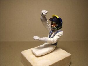 1/18 FIGURE  F1 DRIVER 28  WINNER DRIVING  VROOM  NOT PAINTED  GP REPLICAS EXOTO