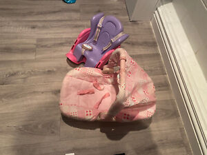 Baby Born Car Seat/Bike And Baby Doll Carrier