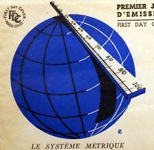 Yt 998 LE SYSTEME METRIQUE    FRANCE PREMIER JOUR FDC PARIS 1954