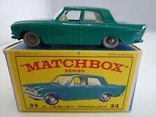 VINTAGE MATCHBOX LESNEY No.33b FORD ZEPHYR 6 IN ORIGINAL BOX ISSUED 1963 SPW