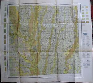 Folded Soil Survey Map Grundy County Missouri Trenton Laredo Brimson Galt 1914