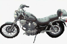 "Yamaha Virago Motorbike - Cross Stitch Kit 12"" x 8"" - 14 Count Aida, Anchor"