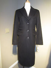 Women's ABS wool peacoat, black, brand new, size 8.