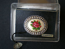 Petite-Point Silver Toned Pin from Austria