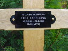 "28"" Memorial Wooden Cross Grave Marker & Free Plaque & Free Engraving"