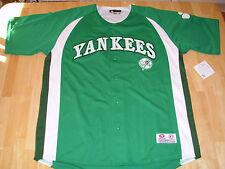 NWT NY Yankees Jersey RARE Green Irish Shamrock XL Judge Jeter MLB Baseball