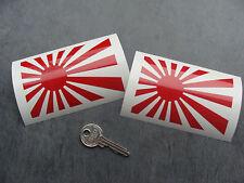 2x sticker Japan flag 10cm Rouge decal auto moto JDM suzuki toyota B14-027