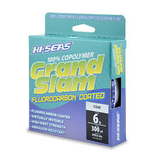 HI-SEAS GRAND SLAM FLUOROCARBON COATED LINE 6LB 6# CLEAR 300 YARDS GSF-F300-06CL