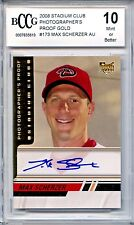 MAX SCHERZER 2008 Stadium Club GOLD PROOF AUTO rookie #43/50 BCCG 10 3x Cy Young