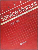 1984 Dodge and Plymouth Colt Vista Shop Manual 84 Original OEM Repair Service