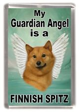 "Finnish Spitz Dog Fridge Magnet ""My Guardian Angel is a .... "" by Starprint"