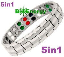 Titanio energía magnética Germanio Brazalete Potencia Pulsera Salud Bio 5in1 Bio
