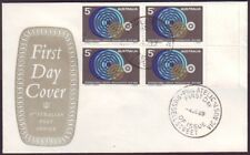 1969 Ilo Block Of 4 On Post Office Shield First Day Cover Unaddressed (Ru4020)