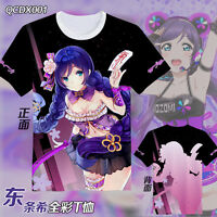 Anime Love Live Cotton T-Shirt Cosplay Casual O-Neck Tee Shirts Tops Blouse Gift