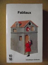 FABLIAUX BIBLIOTHÈQUE MÉDIÉVALE 10 18 TRADUITS PAR ROSANNA BRUSEGAN BILINGUE