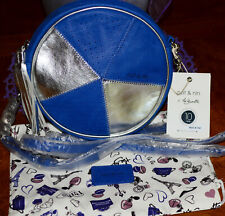 Nat & Nin Blue & Silver Leather Crossbody Bag** **Beautiful**