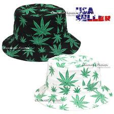 Bucket Hat Cap Cotton Boonie Brim Visor Fishing Sun Safari Marijuana Weed Mens