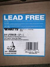 watts pressure reducing valve 3/4