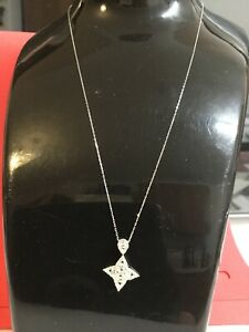 Gorgeous 0.50 Carat Natural Diamond Pendant Necklace In 18k White Gold